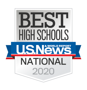 Best High Schools - National recognition, 2020, US News and World Report Magazine